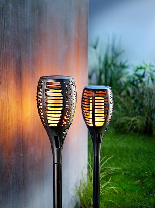 "2er-Set LED Deko Garten Dekoration Beleuchtung Solar-Gartenstecker /""Effekt/"""