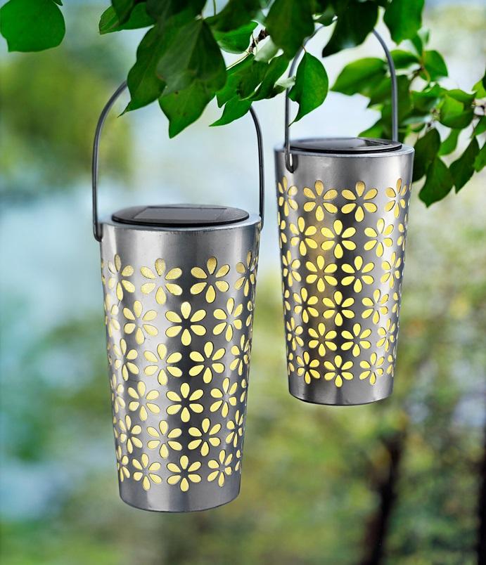 2er Set LED Igel Deko Solar Leuchten Garten Beet Beleuchtung Balkon Außen Lampen